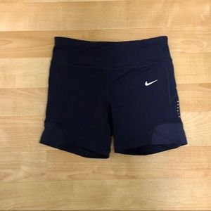 Navy blue Nike Dri Fit running shorts